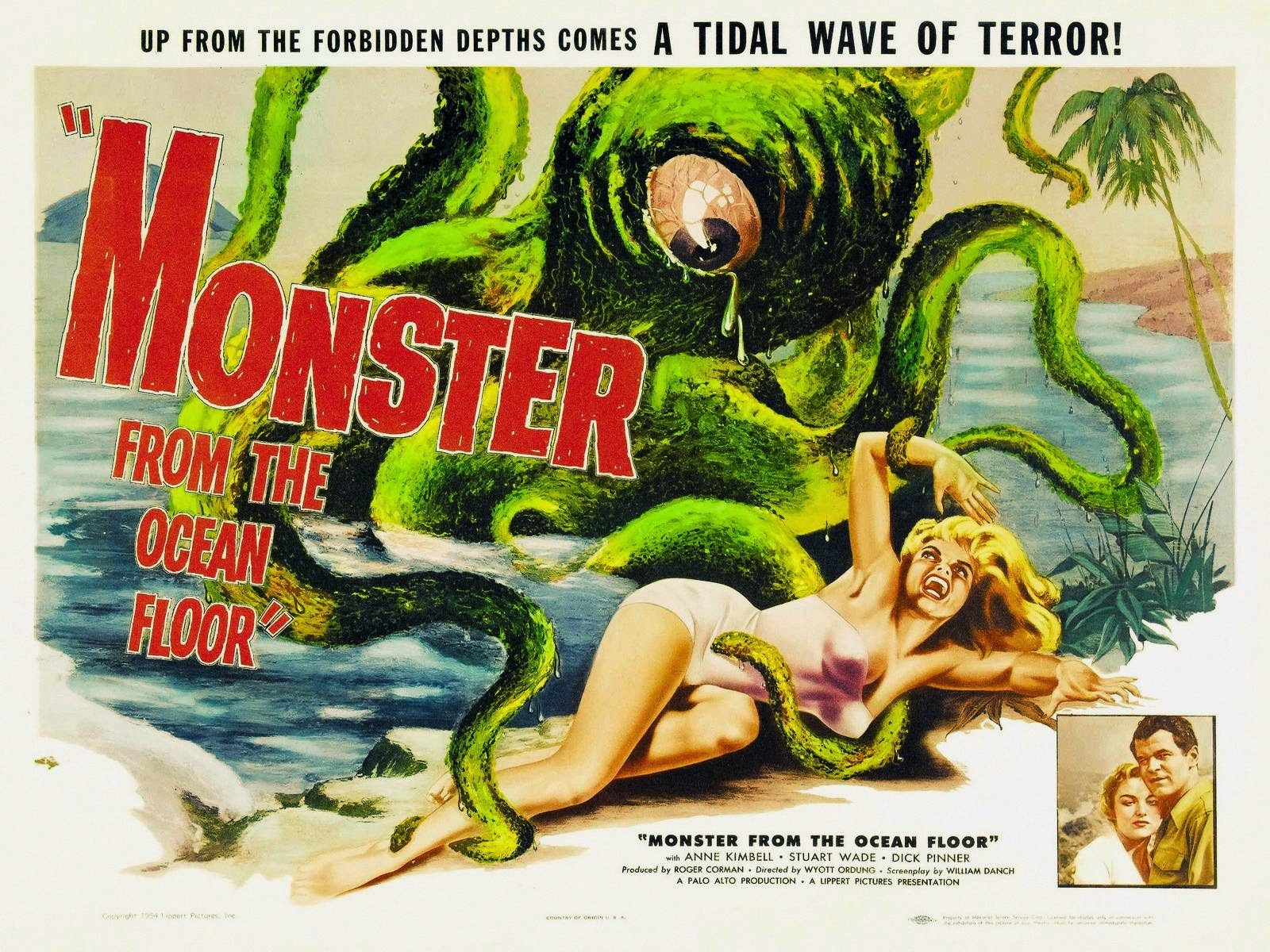 monster from the ocean floor poster