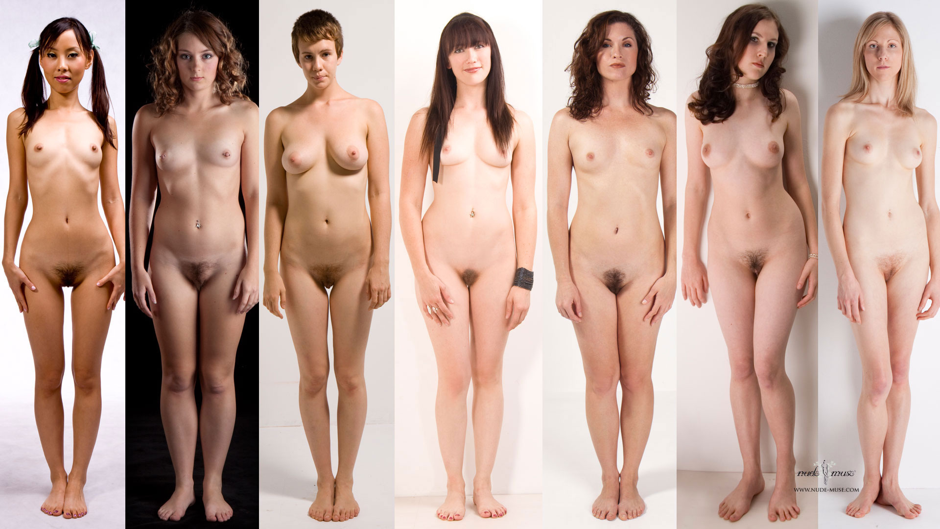 Nude pics of girls standing front view can