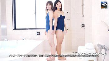 [無碼]最新1000人斬150209 巨乳泳裝女同浴室3P 藍那
