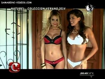 Melina Pitra and Mariana Antoniale erotic lingerie photo session