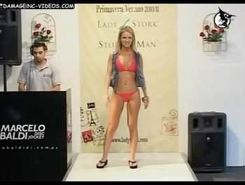 Alejandra Maglietti red lingerie catwalk