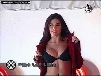 Pamela David black bra video